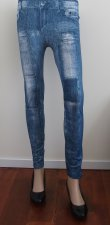 Distressed Printed Jeggings