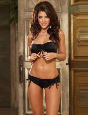 Bandeau Bra Set Black