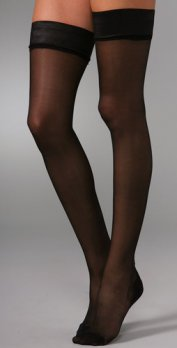 Black Thigh High Sheers